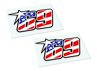 NICKY HAYDEN 69 Classic Retro Car Motorcycle Decals Stickers