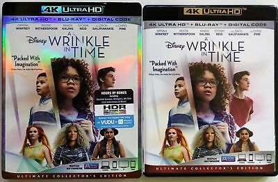 Disney A Wrinkle In Time 4K Ultra Hd Blu Ray 2 Disc Set + Slipcover Sleeve Buyit