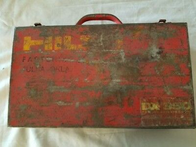 Hilti DX350 Power Actuated Nail Gun STEEL Case ( Old Style) 1970's