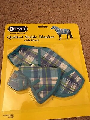 Blue Plaid Breyer Traditional Scale Quilted Stable Blanket New In Package