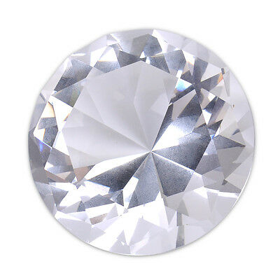 60mm Glass Giant Crystal Diamond Paperweight Jewel Wedding Party Decoration Gift