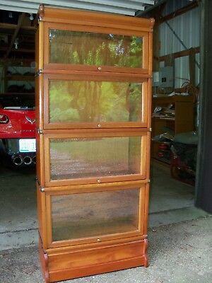 Antique Mahogany Barrister Bookcase 3/4 size