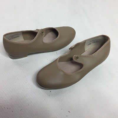 CAPEZIO Tap Shoes Size 1 M Kids Youth Girls Dance Tele Tone Mary Janes Heels Tan