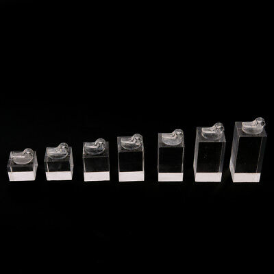Set of 7 clip ring acrylic display stand jewelry holder Riser FAUS