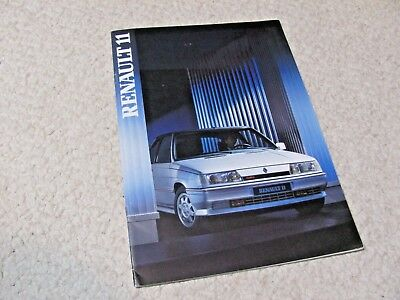1987 Renault11 (France) Sales Brochure..