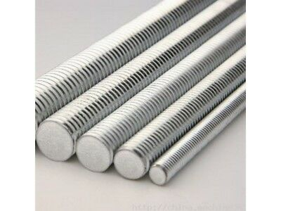 THREADED BAR, ROD, STUDDING METRIC BZP. 1m OR 0.5M- VARIOUS SIZES