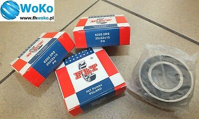 Bearing 6205 2RS,6205 2rs,6205RS,6205 2rs,6205 RS, dimension 25x52x15 FŁT POLAND