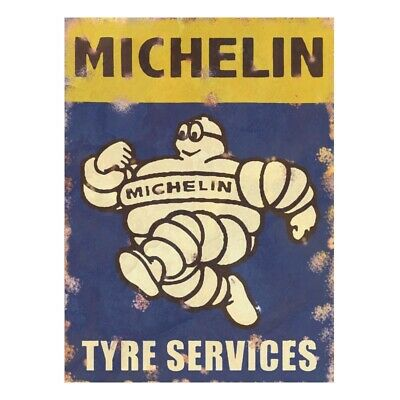 vintage garage sign michelin tyre shed dad workshop old retro classic man cave