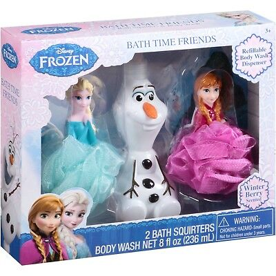 Disney Frozen Bath Time Friends Set, 3 pc 2 BATH SQUATTERS1 BODY WASH