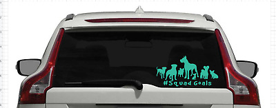#Squad Goals Multiple Dogs decal sticker