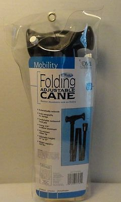 Duro Med Industries Folding Adjustable Cane New Free Ship!