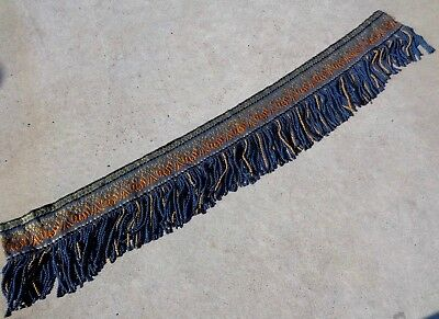 Antique Valance Fringe Trim Curtain Chair Shelf Needle Point Hand Made 50 inches