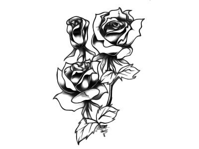High Quality Temporary Tattoo Rose Flower Waterproof Body Art