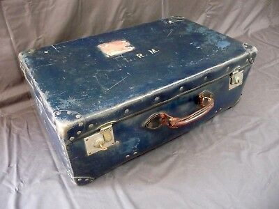 Vintage British India Suitcase Storage Box Case Trunk Chest