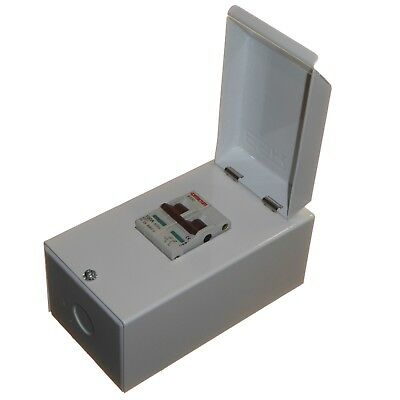 100A Mains Isolator Switch Double Pole Small Metal Enclosure + Lid BSEN61439-3