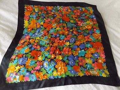 Liberty Of London Vintage Bright Floral Scarf.