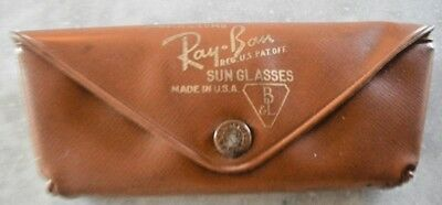 Vintage Ray Ban Bausch Lomb Sunglasses Eyeglass Carry Case Made USA