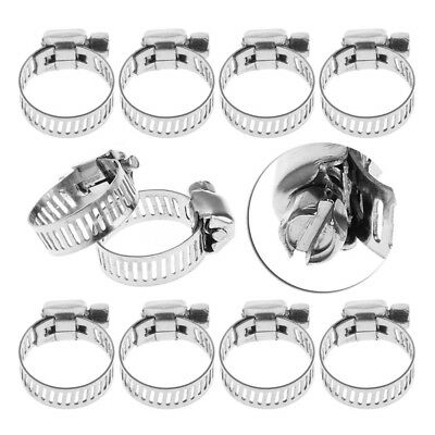 16-25 Adjustable Worm Gear Fuel Line Clamp Stainless Steel for Plumbing Automotive and Mechanical Applications 10pcs Riuty Hose Clamp