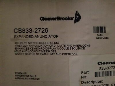 Cleaver-Brooks Automatic Programming Control Cb833-2726 *new In Box*