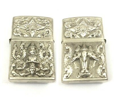 Vintge Sterling Silver Ornate Repousse Zippo Lighter
