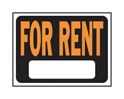 Hy-Ko  English  For Rent  Sign  Plastic  9 in. H x 12 in. W