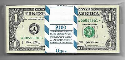 2003 Ch/cu $1 Star Pack Boston District All 100 Consecutive Notes