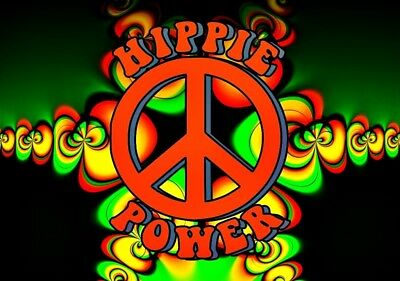 Rasta Hippie Power Vinyl Sticker Decal Hippie Rock n Roll Grateful Dead Yeti Cup