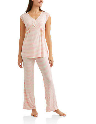 Nurture by Lamaze Maternity Nursing Sleeveless Top and Wide Leg Pants Sleep Set