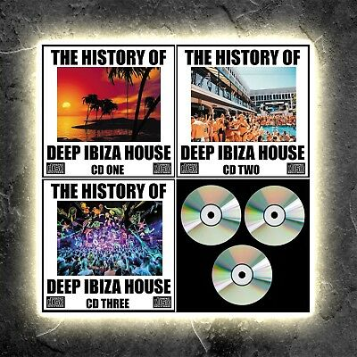 DEEP HOUSE TUNES The History Of Deep ibiza House Music 3 NEW DJ MIXED CDs 2018