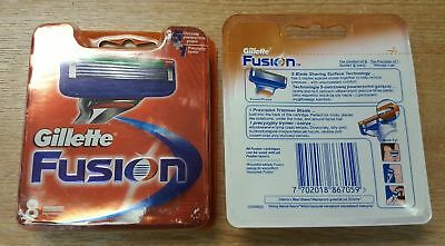 Gillette Fusion Men's Razor Blades - 8 Blades NEW