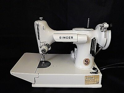 Vintage Singer Featherweight Sewing Machine Model 221 + Attachments & Case
