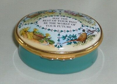Halcyon Days  'May The Best of Your Past.....' Enamel Box