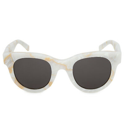 "d010f7f8d10 Céline ""Baby Audrey"" Cat Eye Sunglasses 41053 S 21J NR 47 White"