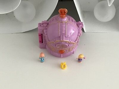 Polly Pocket CROWN PALACE PLAYSET - 100% Complete Incl YELLOW CROWN