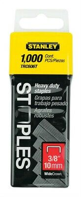 """Stanley Hand Tools TRC606T 1,000 Count 3/8"""" Wide Crown Heavy Duty Staples"""