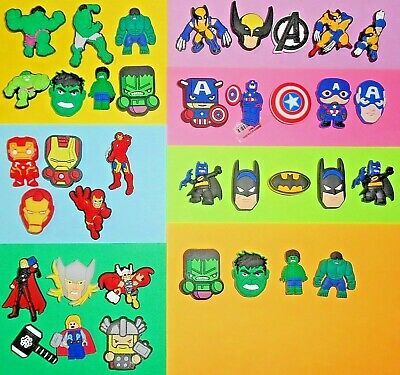 Super Hero Shoe Charms Shoe Buttons Pins Cake Toppers Shoe Decorations