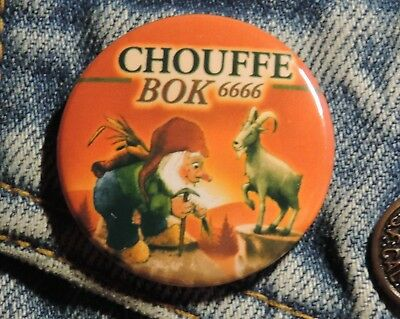 Pin Button Badge Ø38mm  La chouffe Bok 6666 ( 10 )