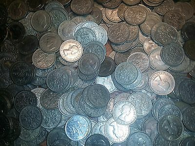 100 sixpences coins bulk lot good coins british english coins 100