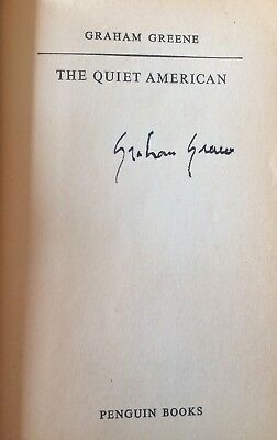Signed Graham Greene Penguin 1st Edition-  The Quiet American - Good copy