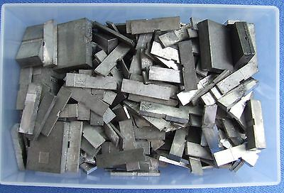 Adana Letterpress Printing 500g of 14pt Quads & Spaces in a business card box