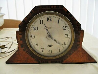 Art Deco Smiths Electric Clock Mantle Working Order