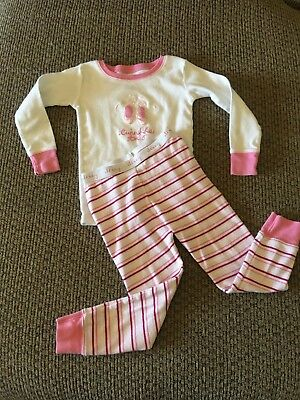 Old Navy Toddler Girl Pajamas Size 3T Pink Ballerina Twinkle Toes