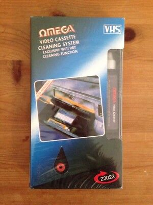 OMEGA Wet/Dry VHS Video Cassette Cleaning System - NEW & SEALED