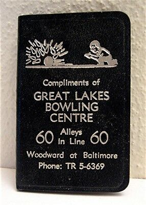 1950 Great Lakes Bowling Centre Unused Calendar Address Book Old Stock Michigan