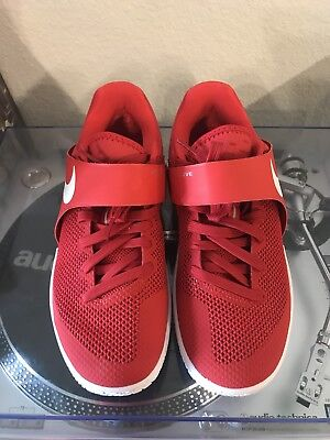 11bdb9ca175 Nike Zoom Live 852421-606 University Red White Men s Basketball Shoes Size 8