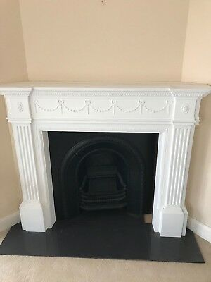 Plaster mantle for fireplace. Pick up Beacon Hill (cast iron sold separately)