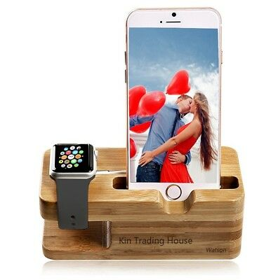 Wood Holder Charger Station Watch Charging Dock Station Charger Stand Wooden