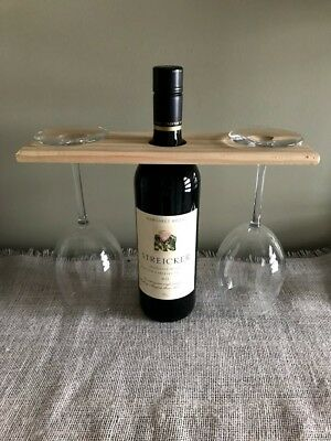 Timber Wine Glass Bottle Holder