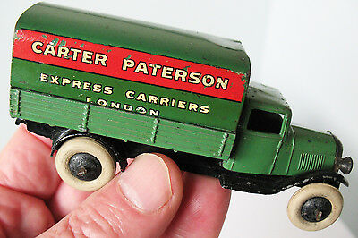 """Dinky Toys No.25b Covered Wagon """"Carter Paterson""""  Pre-war 1936-40  Rare  Good+"""