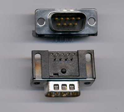9 Pin Male D-Sub Connector - Right Angle PC Board mount - 2 pcs